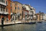 Thumbnail facades of houses Canale Grande in Venice Italy