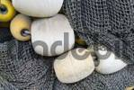 Thumbnail Still life, old fishing net and float balls, Alaska, USA