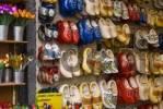 Thumbnail Klumpen, souvenirs, Dutch wooden shoes, clogs, Floating Flower Market, Singel Canal, Amsterdam, Netherlands, Europe