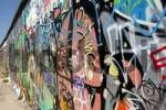 Thumbnail Berlin Wall covered with graffiti at the Eastside Gallery, Berlin, Germany, Europe