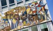 Thumbnail Mosaic on a house wall, Alexanderplatz Square, Berlin, Germany, Europe