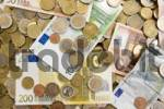 Thumbnail Euro banknotes and coins