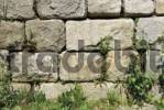 Thumbnail Supporting wall made of worked granite bricks, Hauzenberg, Lower Bavaria, Germany, Europe