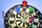 Thumbnail Darts and crystal globe on dart board
