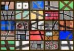 Thumbnail Fachwerk motifs, collage, twentyfive individual pictures, Alsace, France, Europe