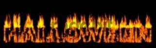 Thumbnail Halloween written in Burning letters