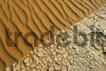 Thumbnail Sand and parched clay soil, Namib Desert, Namibia, Africa