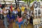 Thumbnail Portraitpainter at the Riverbankpromenade in Guayaquil, Ecuador, Southamerica