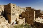 Thumbnail Ornamental stone houses in the historic town centre of Thula, Yemen, Arabia, Arabian Peninsula, the Middle East