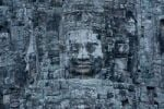 Thumbnail Stone sculptures, faces on the Bayon Temple in Angkor Thom, Siem Reap, Cambodia, Southeast Asia