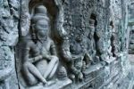 Thumbnail Stone reliefs, buddhist figures in the Preah Khan Temple, Siem Reap, Cambodia, Southeast Asia