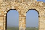 Thumbnail Detail of arches of the basilica at the ruined Roman city of Volubilis, Morocco, Africa