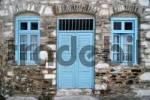 Thumbnail Doorway and windows of an old stone house, Cyclades, Greece, Europe