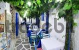 Thumbnail Tavern with wooden tables, Naxos City, Cyclades, Greece, Europe