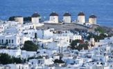 Thumbnail Windmills, the landmark of Mykonos, Cyclades, Greece, Europe