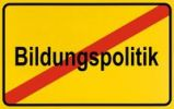 Thumbnail Sign, end of city limits, as symbol for ending educational policy or Bildungspolitik