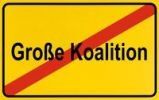 Thumbnail Sign, end of city limits, as symbol for ending the large coalition or Grossen Koalition