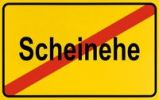 Thumbnail Sign, end of city limits, as symbol for stopping fictitious marriage or Scheinehe