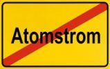 Thumbnail Sign, end of city limits, as symbol for stopping ending Nuclear Power or Atomstrom