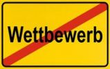 Thumbnail Sign, end of city limits, as symbol for the end of Competition or Wettbewerbes