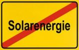 Thumbnail Sign, end of city limits, as symbol for the end of Solar Power or Solarenergie