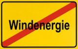 Thumbnail Sign, end of city limits, as symbol for the end of Wind Energy or Windenergie