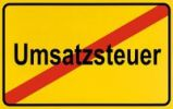 Thumbnail Sign, end of city limits, as symbol for the end of Sales Tax or Umsatzsteuer