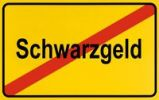 Thumbnail Sign, end of city limits, as symbol for the end of Illegal or undeclared Earnings or Schwarzgeld
