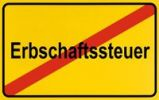Thumbnail Sign, end of city limits, as symbol for the end of Inheritance Tax or Erbschaftssteuer