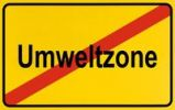 Thumbnail Sign, end of city limits, as symbol for the end of Low Emission Zones or Umweltzone