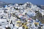 Thumbnail View over the town of Thira, Fira, with typical cycladic architecture, Santorini, Cyclades, Greece, Europe