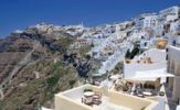 Thumbnail View over the town of Thira, Fira, on a craters edge with typical Cycladic architecture, Santorini, Cyclades, Greece, Europe