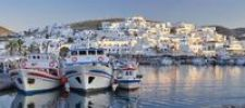 Thumbnail Fishing boats in the harbour of Naousa, Paros, Cyclades, Greece, Europe