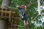 Thumbnail Boy climbing in Baerenfalle Ropes Course, Immenstadt, Allgaeu, Bavaria, Germany, Europe