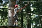 Thumbnail Boy climbing on the Baerenfalle Ropes Course, Immenstadt, Allgaeu, Bavaria, Germany, Europe