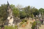 Thumbnail Aerial view of the buddhist statues in the Buddha Park Suan Xieng Khuan near Vientiane, Laos, Southeast Asia