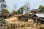 Thumbnail Hmong Ethnie village with simple wooden huts, Ban Phakeo, Xieng Khuang Province, Laos, Southeast Asia