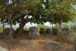Thumbnail Stone jugs under a tree, Plain of Jars site No. 2, Hai Hin Phu Salato, Xieng Khuang Province, Laos, Southeast Asia