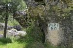 Thumbnail Pipi no, no peeing, do not urinate, sign, guideline, ban, rock, trees, Spain, Europe