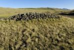 Thumbnail Prehistoric Kurgan or tumulus, a type of burial mound, Saylyugem Mountains, Chuya Steppe, Altai Republic, Siberia, Russia, Asia