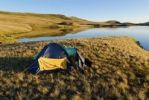 Thumbnail Camping in a tent, Saylyugem Mountains, Chuya Steppe, Altai Republic, Siberia, Russia, Asia