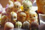 Thumbnail Marzipan skull good luck charms at the Day of the Dead Festival during All Saints Day or All Hallows in Patzcuaro, Michoacan, Mexico, North America
