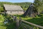 Thumbnail Ail, historic hut of the Altai people and a siberian farmhouse, Anos, Katun Valley, Altai Republic, Siberia, Russia, Asia