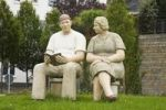 Thumbnail Sculpture of a couple, Schmallenberg, Sauerland, North Rhine-Westphalia, Germany, Europe