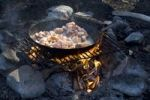 Thumbnail Bacon frying on a camp fire, Lake Laberge, Yukon Territory, Canada, North America