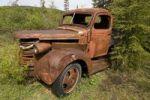 Thumbnail Alter Holz-Truck, verrostet, Lower Laberge Village, Yukon, Kanada, Nordamerika