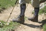 Thumbnail Walking shoes, walking socks, walking stick, hiker, footpath, Hochgrat, Germany, Europe