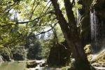 Thumbnail Schleierfaelle, Bridal Veil waterfalls on the Ammer River, Pfaffenwinkel, Upper Bavaria, Bavaria, Germany, Europe