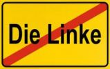 Thumbnail End of town sign, symbolic image for the end of the Die Linke, Left Party