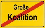 Thumbnail End of town sign, symbolic image for the end of the coalition of the CDU and SPD